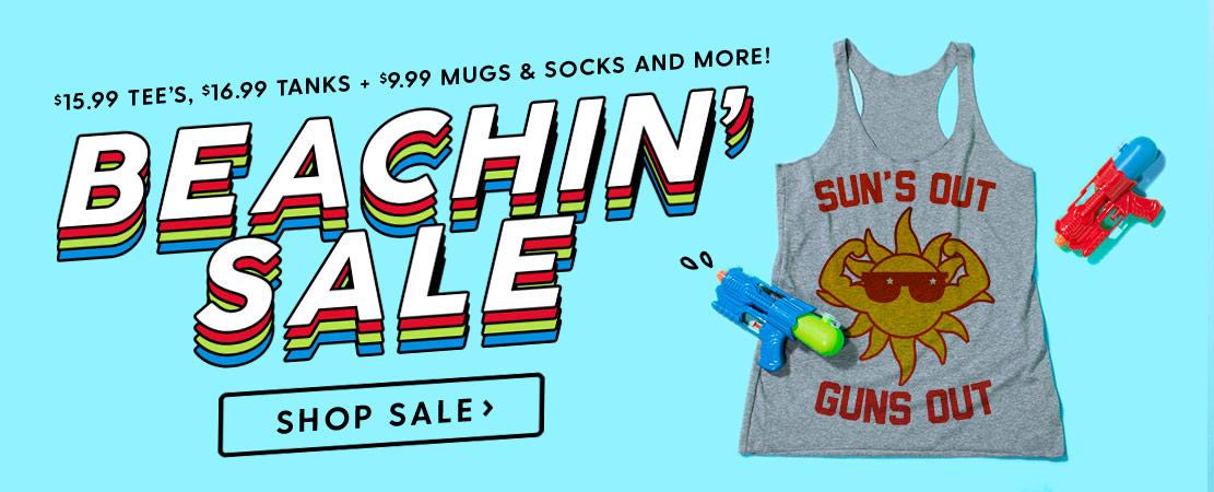 Beachin Sale - Shirts, Mugs and Socks