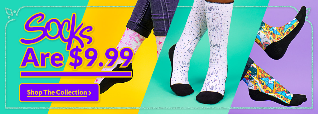 Flash Sale! $9.99 Socks - Look HUMAN